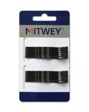 12 Clip Mitwey Negro Rizado 50mm Classic