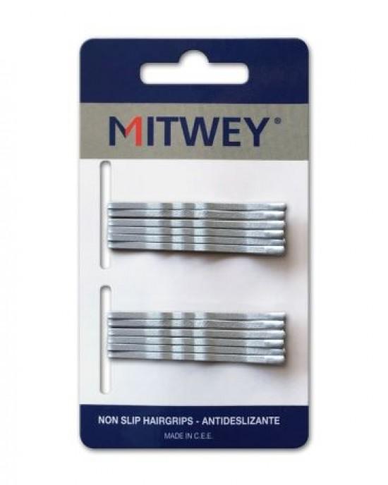 12 Clip Mitwey Plata Rizado 50mm Antideslizante Reina Navidades para los peques