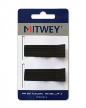 12 Clip Negro Liso 50mm Antideslizante Mitwey