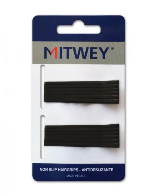 12 Clip Negro Liso 50mm Antideslizante Mitwey Reina Navidades para los peques