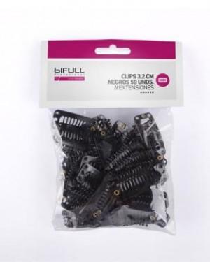 50 Clip Negro Extensiones BiFull + 1 Consejo