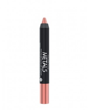 Barra de Labios Metals 02 Matte Metallic Crayon Golden Rose