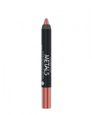 Barra de Labios Metals 04 Matte Metallic Crayon Golden Rose