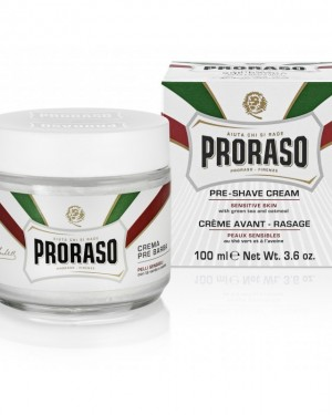 Crema Pre-Afeitado 100ml Te Verde Proraso + 1 Consejo