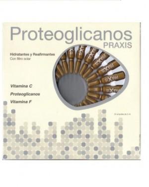 Ampollas hidratantes reafirmantes Proteoglicanos 24 unidades Praxis