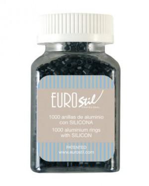 Anillas Extensiones Castaño Oscuro 100und Eurostil + 1 Consejo