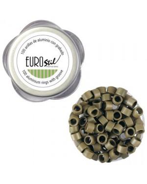 Anillas Extensiones Rubio Oscuro 100und Eurostil + 1 Consejo