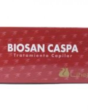 Caja Biosan Anticaspa 8 ampollas Liheto + 1 Consejo