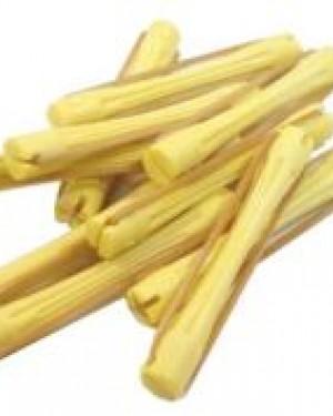 20 und Bigudie Plastico Color Amarillo Eurostil + 1 Consejo