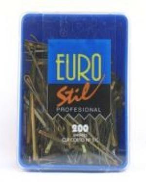 Caja 200 Clips lisos Bronce Eurostil + 1 Consejo