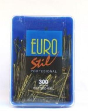 Caja 300 Clips Corto ondulado 50mm Bronce Eurostil