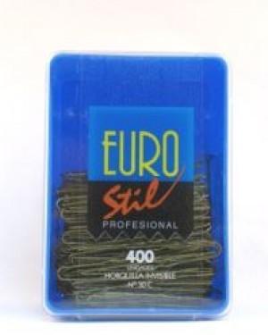 Caja 400 Horquillas invisibles 55mm Bronce Eurostil