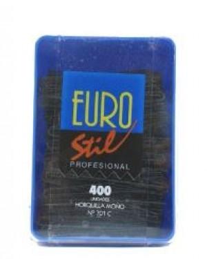 Caja Horquillas Moño Negro 400und Eurostil + 1 Consejo
