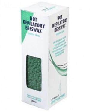 Cera caliente Perlas Verde 250gr Sibel + 1 Consejo