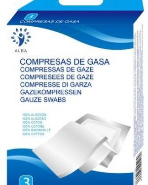 Gasas Algodón 7,5x7,5 cm 3uds Alba