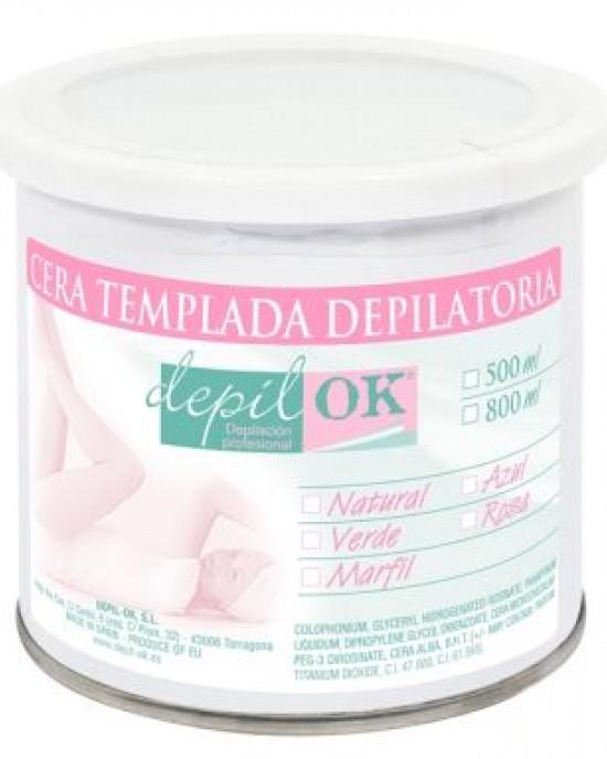 Lata cera Tibia Rosa 500gr Depil Ok Depil-Ok Cera Semifria
