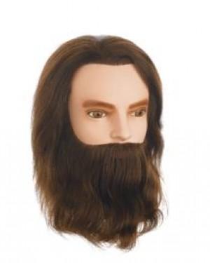 Maniqui pelo natural Karl Con Barba 30-35 cm Sibel