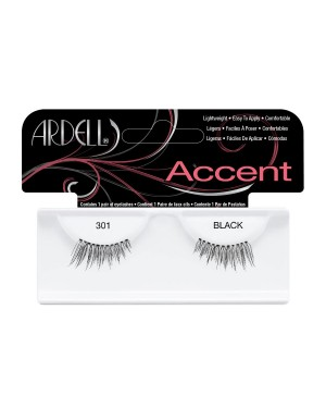 Pestañas Fashion Lash Accent 301 Black Ardell + 1 Consejo